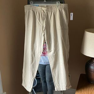 Old Navy Linen Cropped Pants